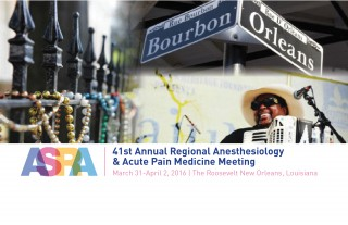 The 41st Annual Regional Anesthesiology and Acute Pain Medicine Meeting will be held March 31-April 2 in New Orleans. The meeting features 314 abstracts...