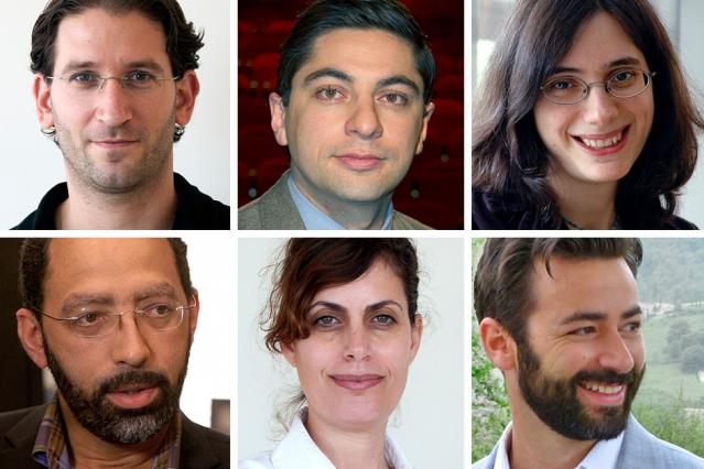 Clockwise from top, left: Itay Tirosh, Benjamin Izar, Aviv Regev, Alex Shalek, Orit Rozenblatt Rosen, and Levi Garraway