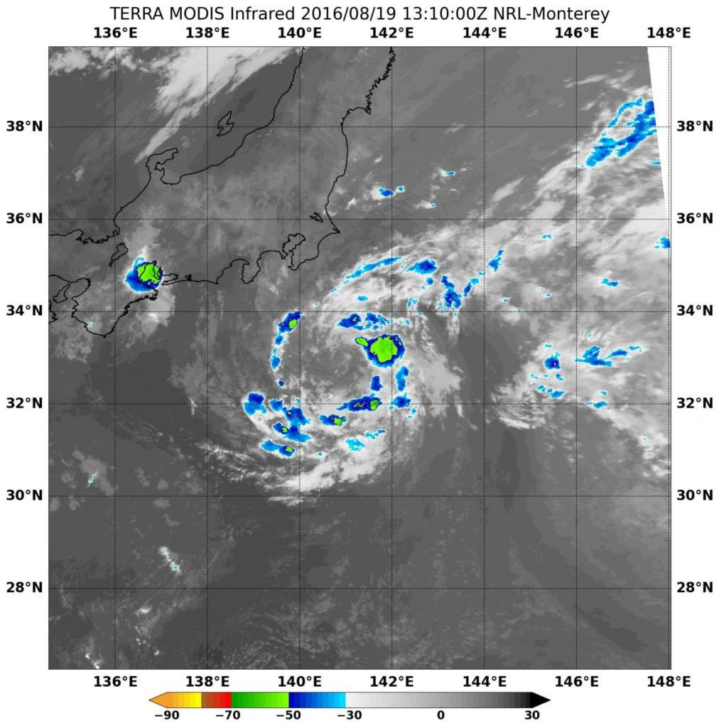 NASA sees Tropical Storm Lionrock south of Japan