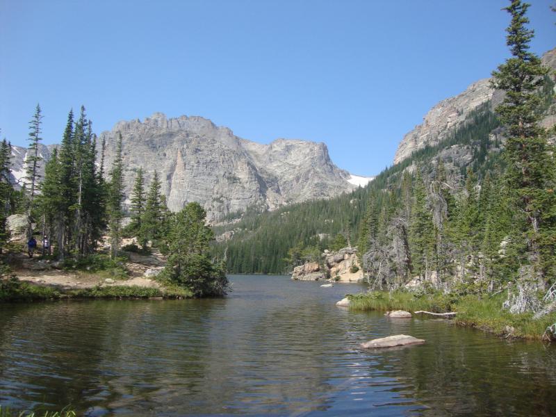 Photo: Rocky Mountain stream and mountains