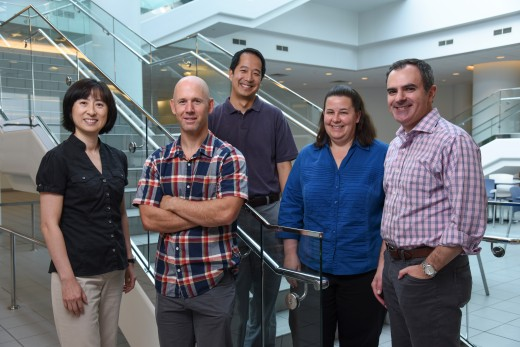 UT Southwestern faculty members named Faculty Scholars (l-r) include Dr. Elizabeth Chen, Dr. Neal Alto, Dr. Benjamin Tu, Dr. Julie Pfeiffer, and Dr. Ralph DeBerardinis.