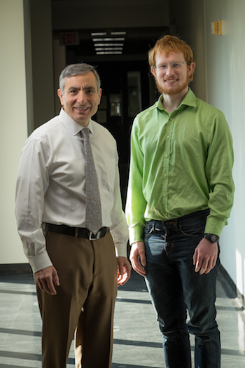 Rice researchers James Tour, left, and William Sikkema. Credit:  Jeff Fitlow