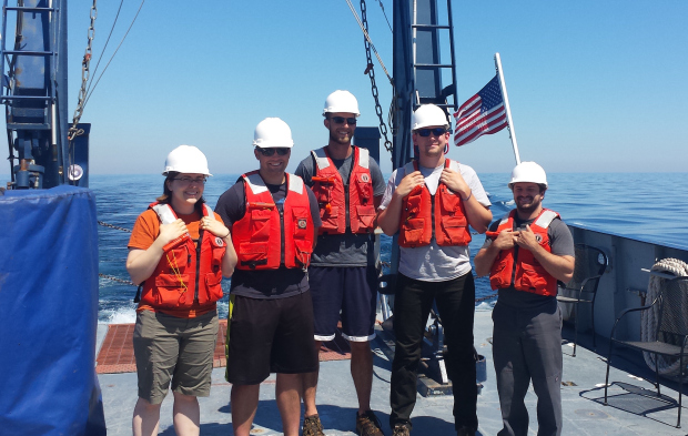 The research crew aboard the Blue Heron. Photo contributed by Doug Ricketts