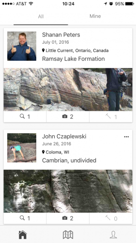 Photo: Screenshot of Rockd app