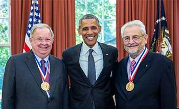 Charles Shank, President Obama, Claudio Pellegrini