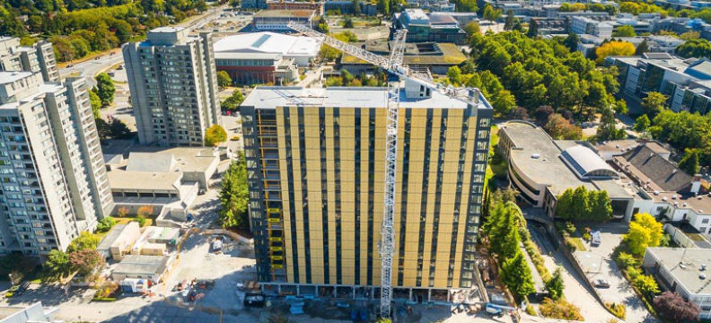 UBC's tall wood building, Brock Commons. Credit: Image courtesy of University of British Columbia
