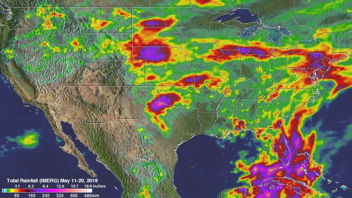 NASA measures heavy US rainfall from space – Scienmag: Latest ...