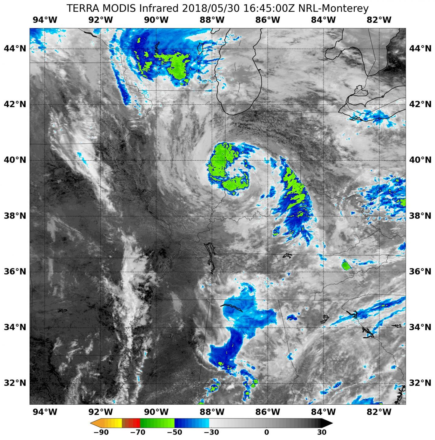 Nasa Finds Subtropical Depression Alberto S Center Over Indiana